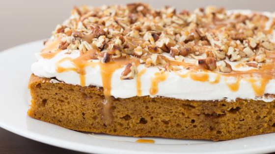 Photo of Pumpkin Caramel Bourbon Poke Cake by Stasty Cook