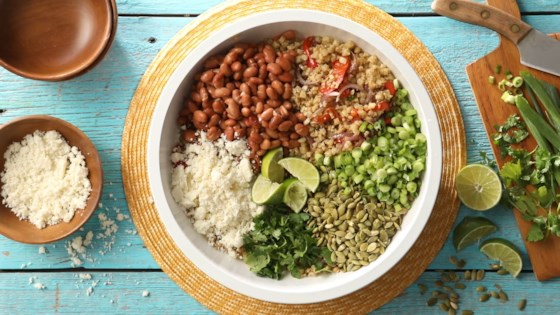 Photo of Cauliflower Rice and Beans Fajita Bowls by Julie Hubert