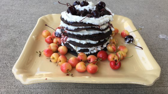 Photo of Black Forest Pancake Cake by Leslie Kelly