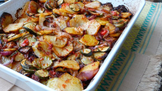 Briam (Greek Baked Zucchini and Potatoes) Recipe