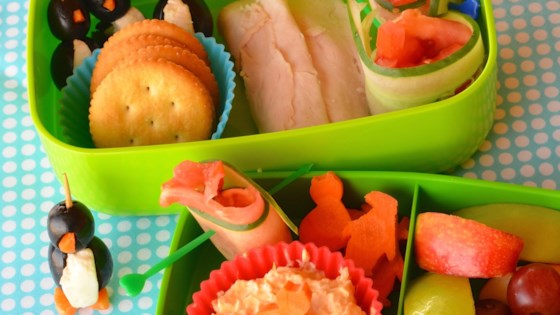 Photo of Kids' Turkey and Cream Cheese Spread Bento Box by Lela