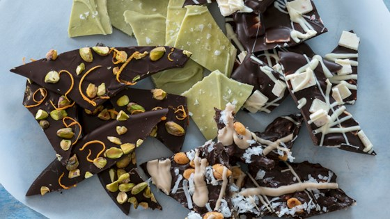 Photo of Ghirardelli Holiday Bark 4 Ways: Deconstructed Candy Bar Bark by Ghirardelli