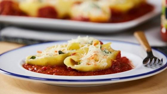 Photo of Veggie-Stuffed Pasta Shells by RAGÚ®