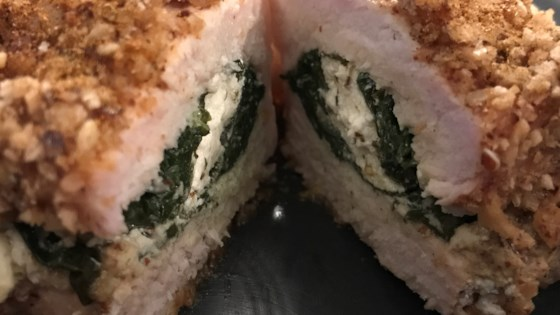 Photo of Gouda and Spinach Stuffed Pork Chops by moonshine7015