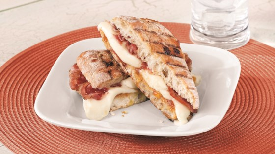 Photo of Pancetta Fresh Mozzarella Panini by Galbani Cheese