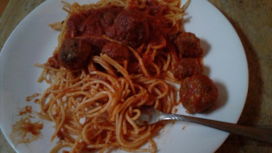 Spaghetti and Chipotle Meatballs