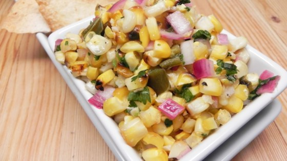 """Roasted"" Corn and Jalapeno Salsa"