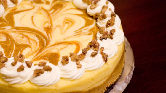 Photo of Marbled Pumpkin Cheesecake by Renee
