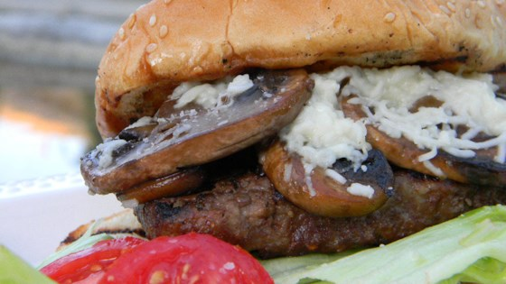 Photo of Grilled Mushroom Swiss Burgers by MS. STEPHANIE