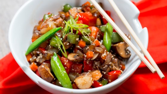 Photo of Honey Shrimp Stir-Fry by Aunt Sue's® Raw Honey