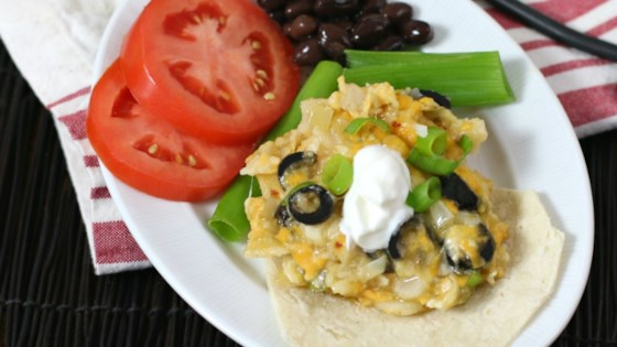 Photo of Cheesy Vegetarian Enchilada Casserole by Culinary Envy