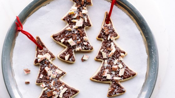 Photo of Christmas Tree Ghirardelli Peppermint Bark Cookies by Ghirardelli