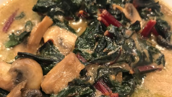 Photo of Delicious Creamed Kale With Mushrooms by Jake Foz
