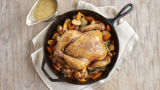 Photo of Roast Chicken Dinner with Gravy by College Inn® Broths and Stocks