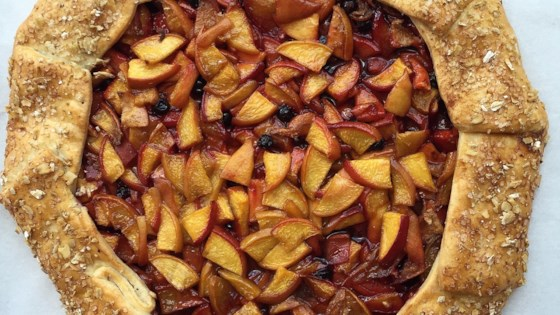 Photo of Fresh Peach Galette by HewnBread