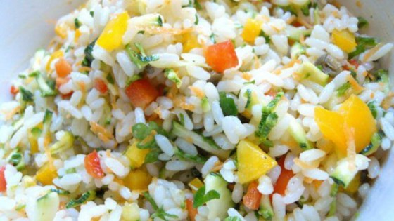 Photo of Mediterranean Rice Salad with Vegetables by lacucinadinadia