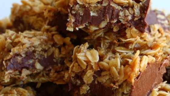Photo of No-Bake Chocolate Oatmeal Bars by Patti82
