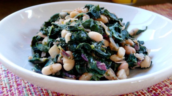 Photo of Greens with Cannellini Beans and Pancetta by Diana Moutsopoulos
