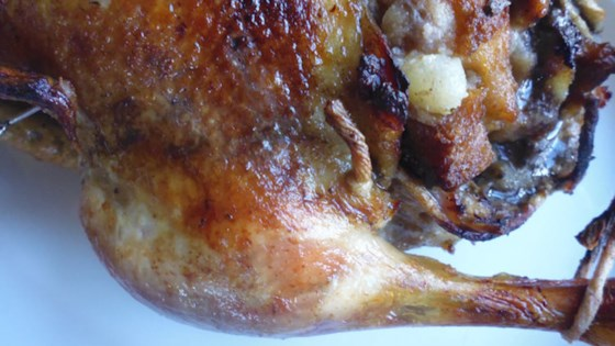 Photo of Roast Duck with Chestnut Stuffing by barbara