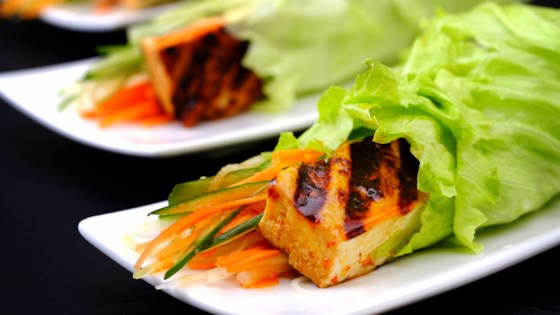 Photo of Bulgogi-Spiced Tofu Wraps with Kimchi Slaw by MyNutriCounter