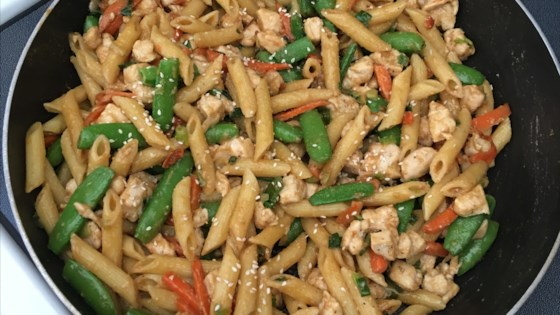 Photo of Chicken and Snow Pea Pasta by Ginny Maziarka