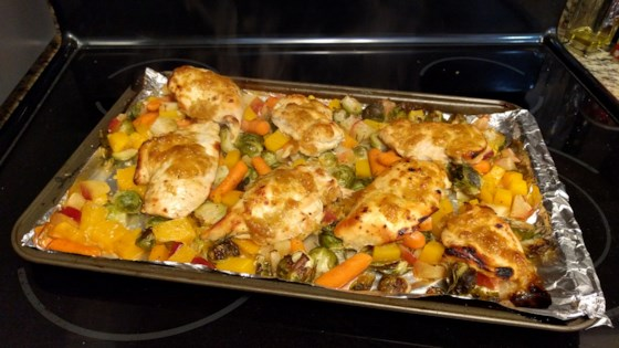 Photo of Autumn Rainbow Sheet Pan Dinner by Lindsey