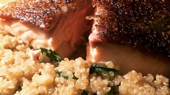 Photo of Rick's Sauteed Salmon over Quinoa by Rick DeMattos