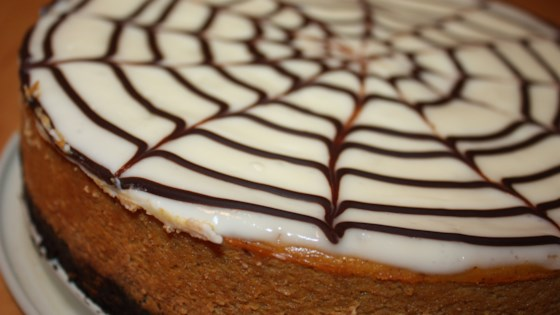 Photo of Spiderweb Pumpkin Cheesecake by treen9499