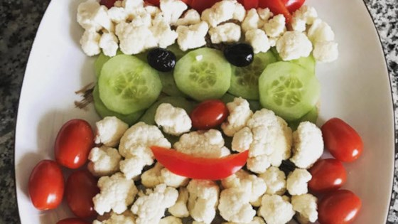Fun Santa Vegetable Tray Recipe