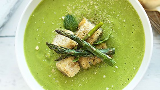 Photo of Creamy Asparagus and Pea Soup by Almond Breeze