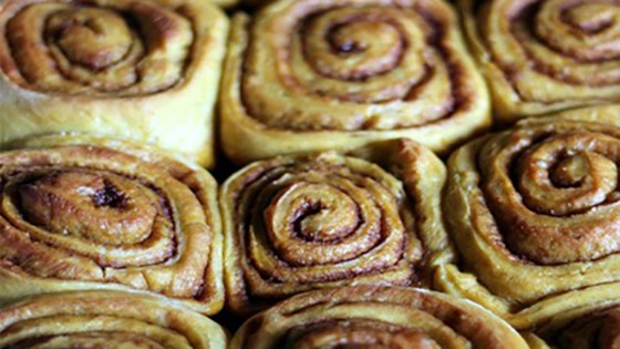 Photo of Pumpkin Cinnamon Rolls with Cream Cheese Frosting by Almond Breeze
