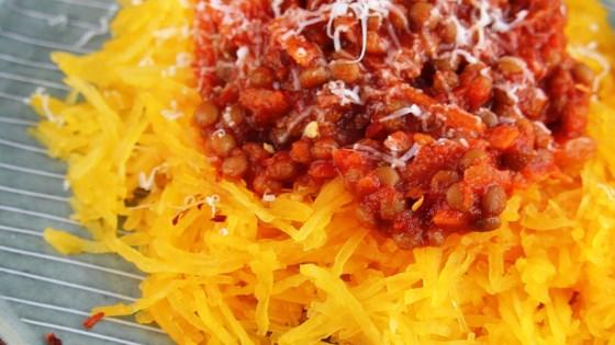 Photo of Zucchini Spaghetti with Lentil Marinara by Cindy Anschutz Barbieri