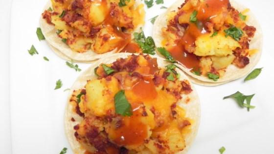 Photo of Vegan Potato Soy Chorizo Tacos by gema
