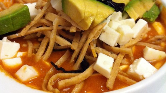 Photo of Sopa de Tortilla (Real Mexican Tortilla Soup) by jackie