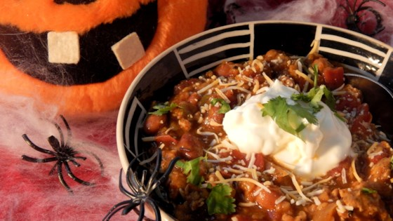 Photo of Spooky Slow Cooker Turkey Lentil Chili by TwinMom