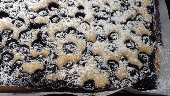 Photo of Quick Blueberry Sheet Cake by Tinkerbell