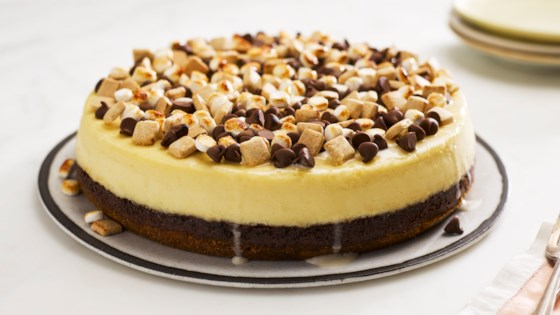 Photo of S'mores Pieces Cheesecake by HERSHEY'S Kitchens