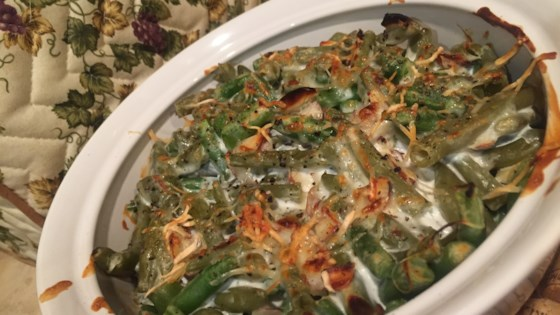 Photo of Three-Cheese Green Bean Casserole by USA WEEKEND columnist Jean Carper