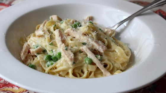 Smoked Turkey and Spring Pea Fettuccine