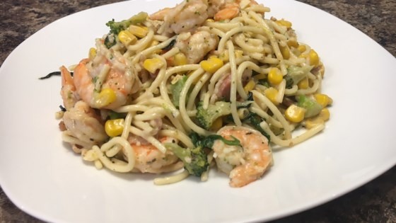Photo of Brett's Creamy Shrimp and Bacon Pasta by Murphtak