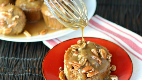Photo of Caramel Banana Poke Muffins by Culinary Envy