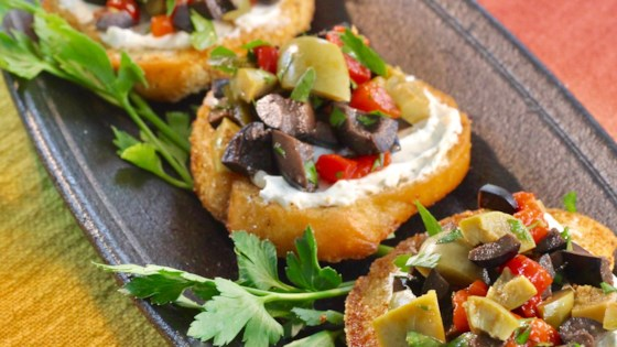 Photo of Olive Salad with Crostini by Wendy V. from TX