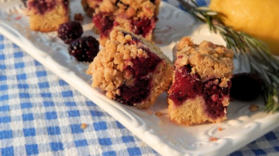 Photo of Rosemary and Lemon Blackberry Bars by Anne J.