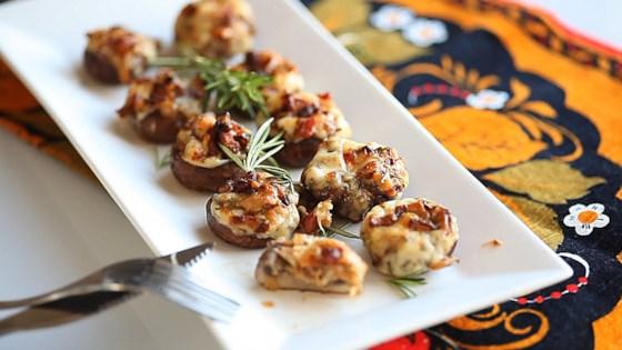 Photo of Bacon Rosemary Stuffed Mushrooms by nt_bella