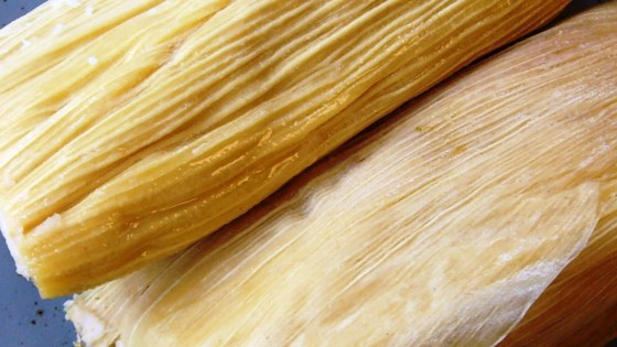Photo of Tamales de Puerco (Red Pork Tamales)  by mega