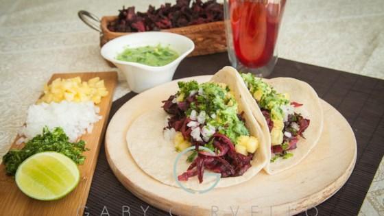 Photo of Tacos de Jamaica (Vegan Hibiscus Tacos) by Chef Gaby Cervello