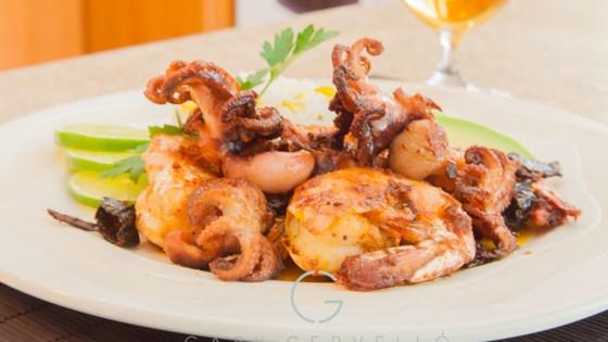 Photo of Camarones al Mojo de Ajo (Mexican Shrimp in Garlic Mojo Sauce) by Chef Gaby Cervello