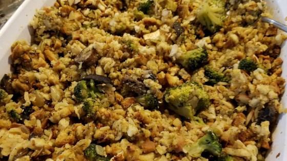 Photo of Leslie's Broccoli, Wild Rice, and Mushroom Stuffing by Leslie Eickhoff-Davis