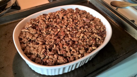 Photo of Roasted Sweet Potato Casserole with Pecan Crumble by Andrew J