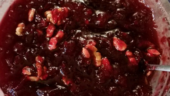 Photo of Pomegranate Cranberry Sauce/Relish by malimomma
